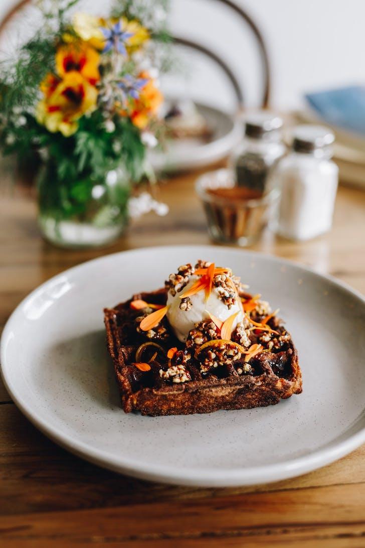 Sweet Kumara Waffles from The Midnight Baker
