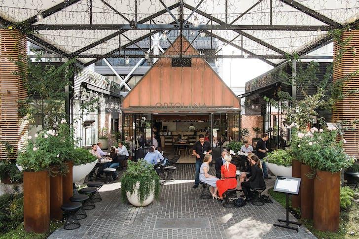 Ortolana's outdoor Britomart courtyard