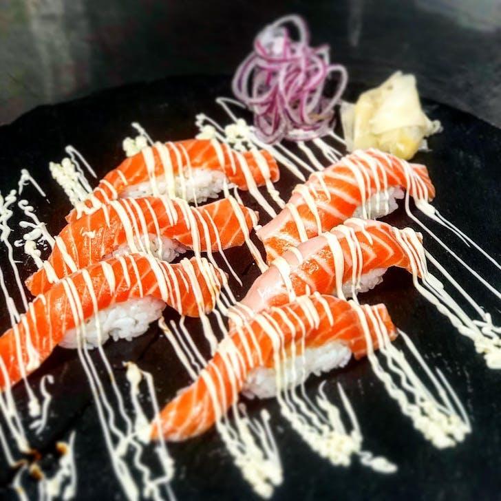 Salmon Nigiri from Industry Zen