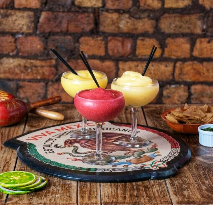 Blended Fruit Margaritas from Mexican Cafe