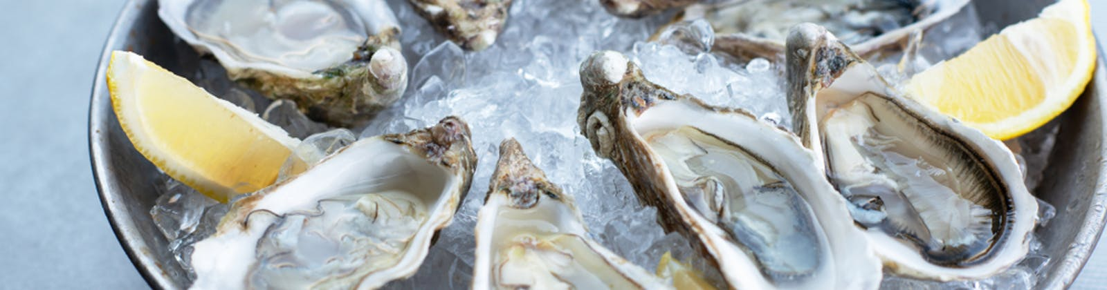 Oysters In Ice With Lemon