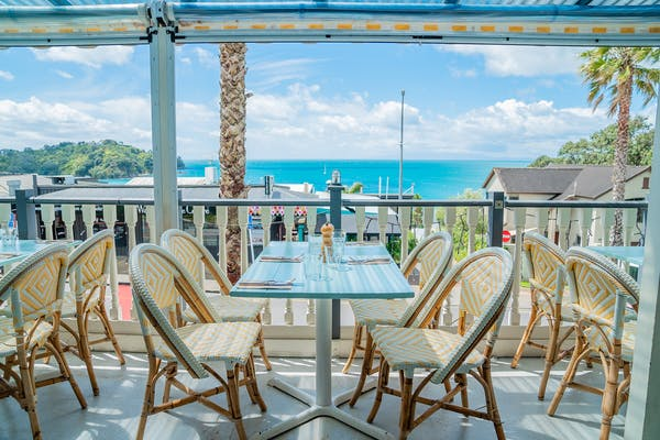 The Oyster Inn's sundeck is the perfect seaside spot