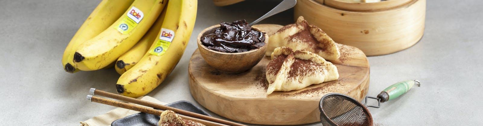 chocolate and banana dumplings