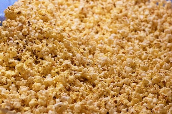 hot popcorn in the machine