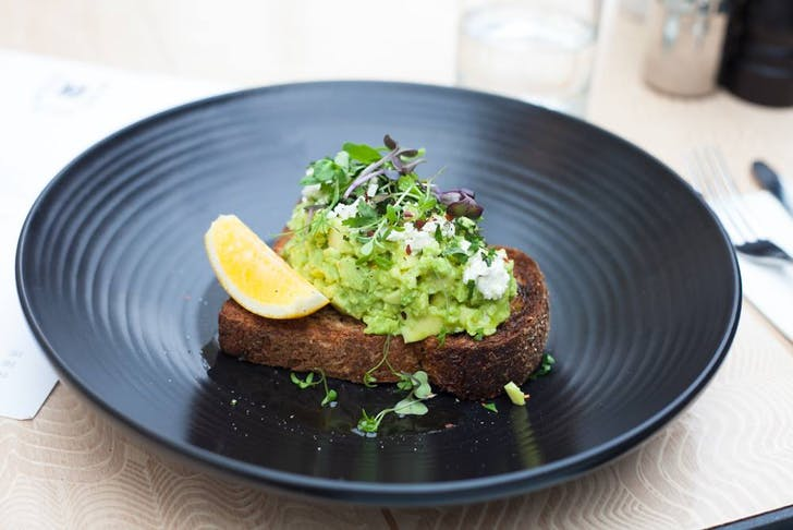Avo Toast with Mint, Lemon, and Feta from Meadow