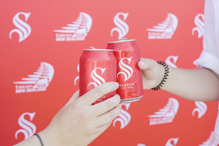 Show your support and back red with Steinlager.
