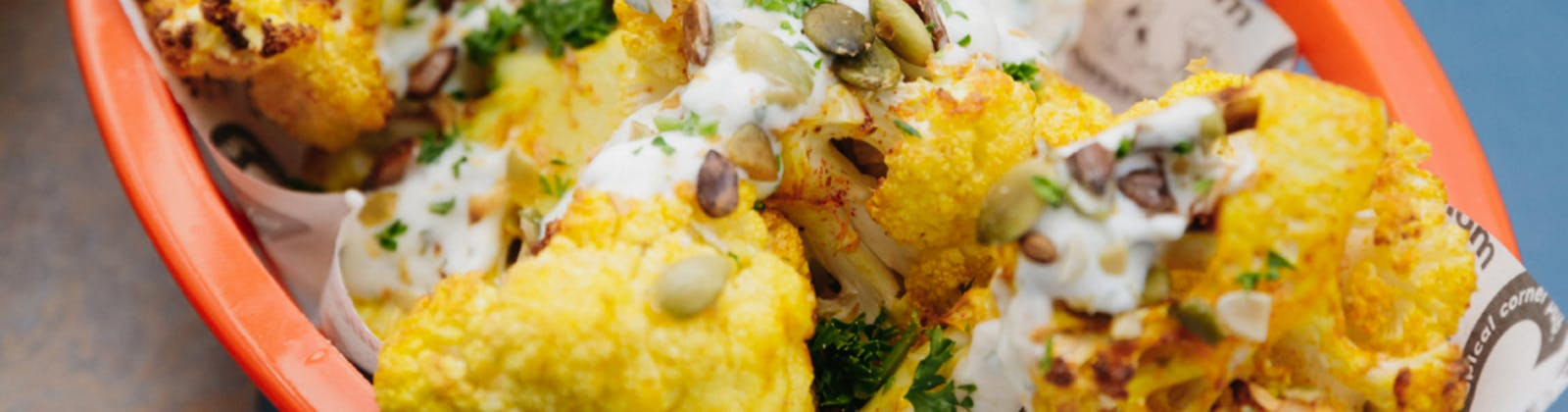 the coop's spiced cauliflower poppers