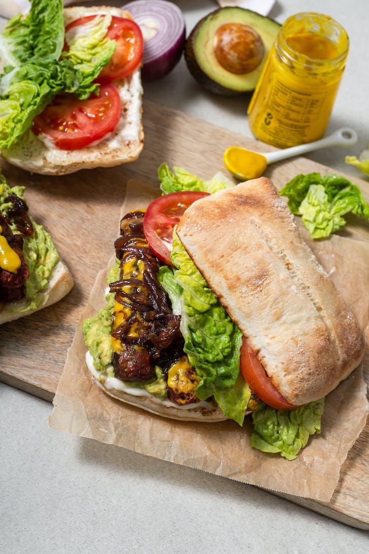 Burger Wisconsin's Vegan Sanger.