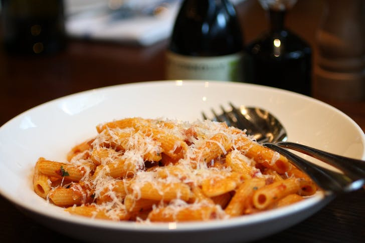 Classic penne pasta from Gusto At The Grand