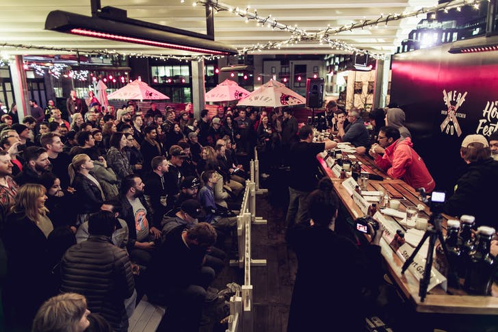 Sweat Shop's outdoor deck will provide the perfect view for fireworks at midnight.