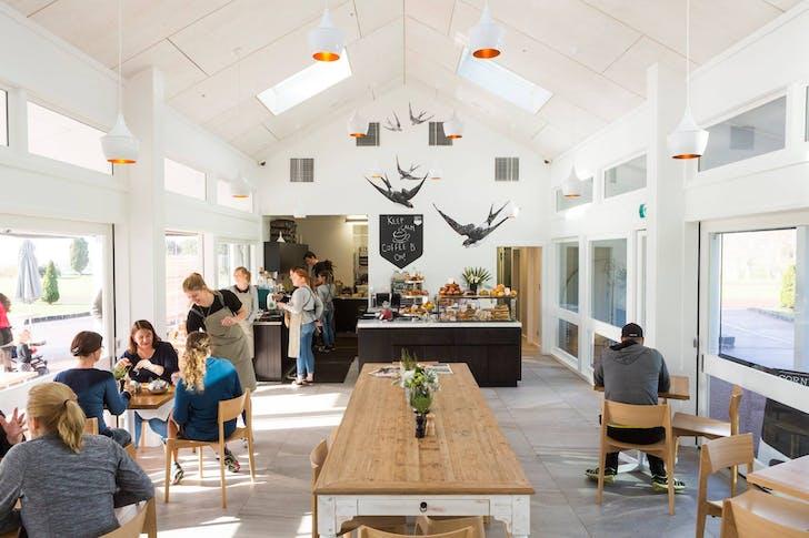 Cornwall Park Cafe's beautifully sun-soaked interior