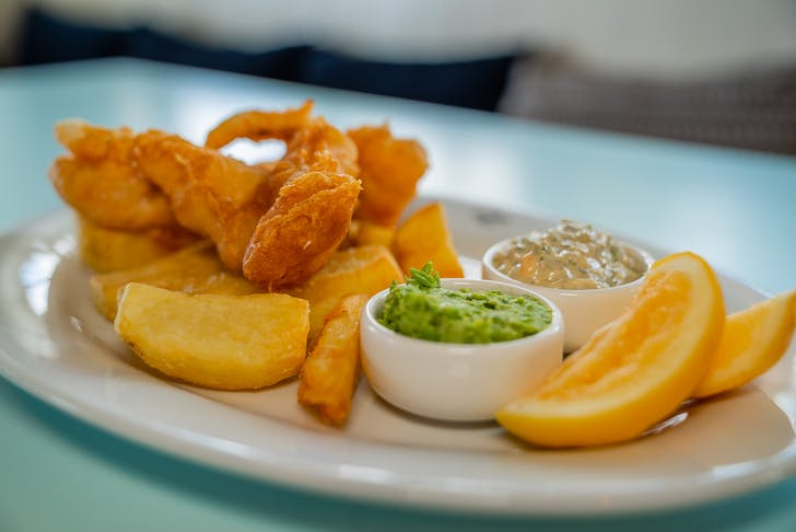 The Oyster Inn's fish and chips.