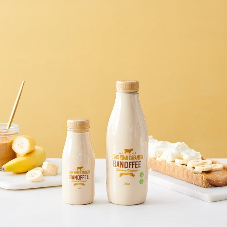 Banoffee Flavoured Milk is out now (Photo Source Lewis Road Creamery).