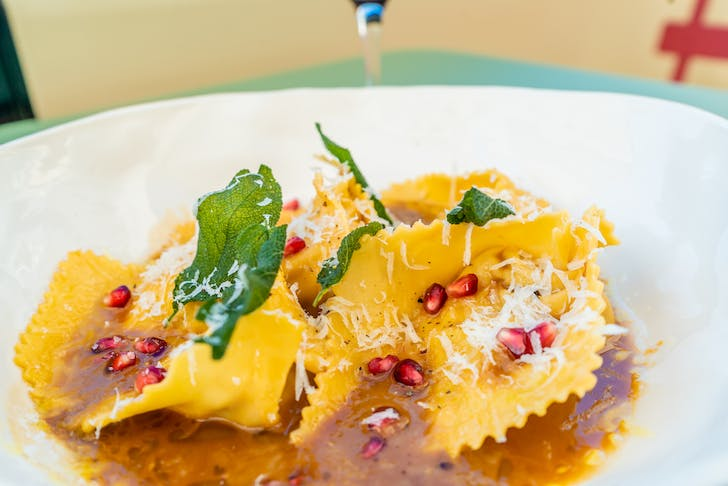Farina's duck tortelloni with brown butter sage