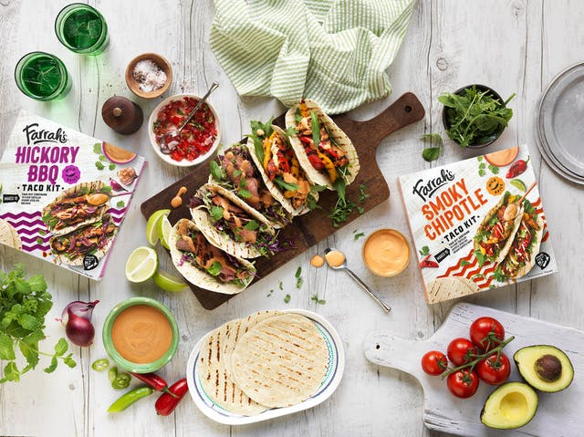 Farrah's new packaging and meal kits are perfect for Taco Tuesday.