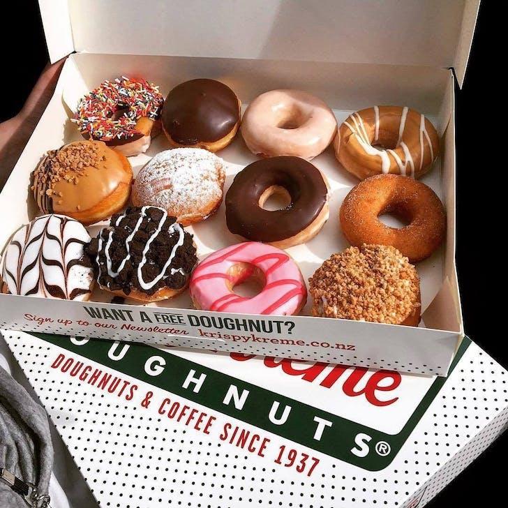 Assorted dozen from Krispy Creme