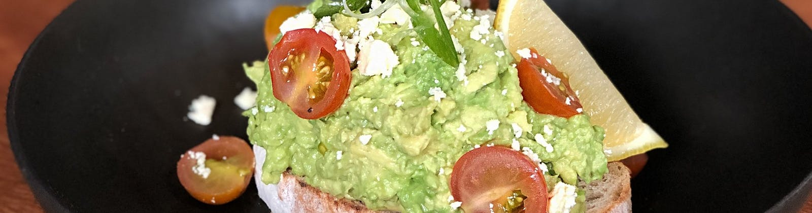 avocado on toast from joes garage