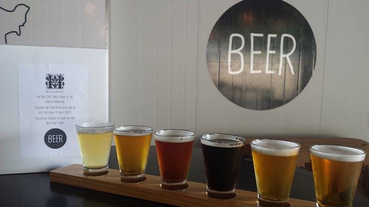 Tasting flight from The Beer Spot