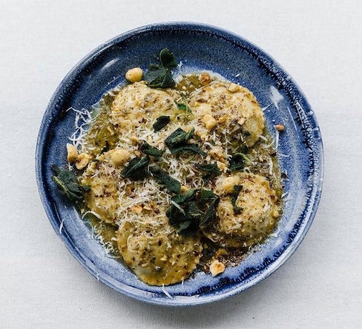 ELMOS' truffle ravioli