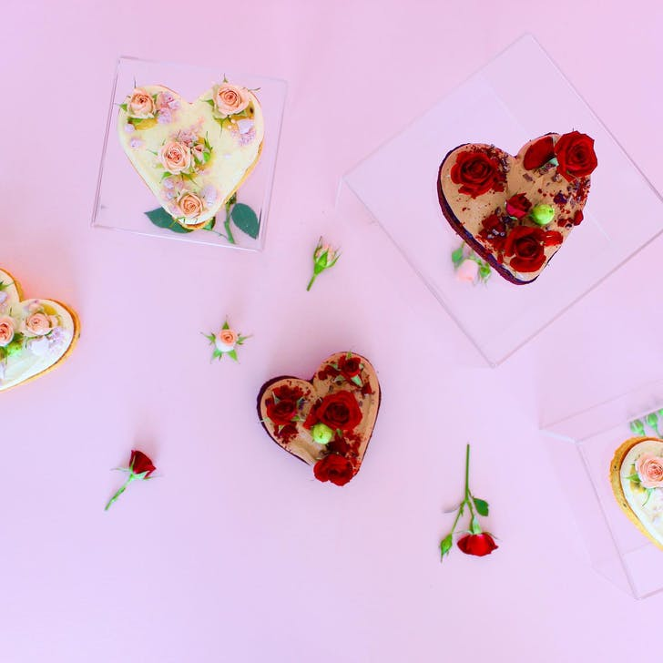 The Caker's Valentine's Heart Cakes (Photo Source: The Caker NZ).