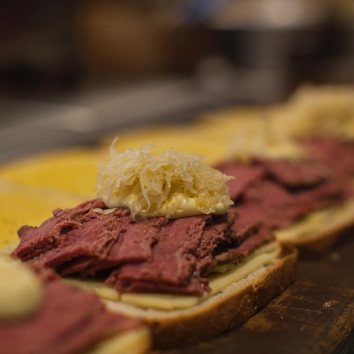 The Fed Deli's Toasted Reuben