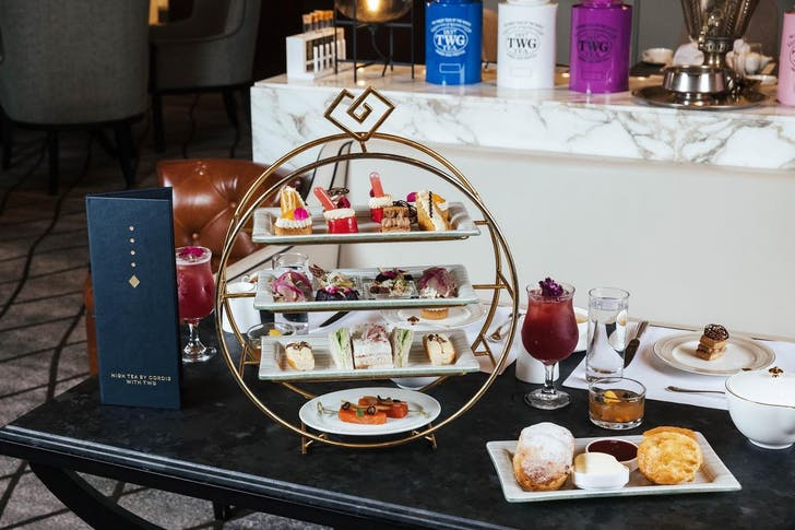 The new Cordis High Tea with TWG in the Chandelier Lounge.