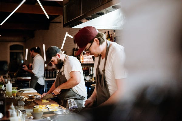 chefs preparing at little culprit