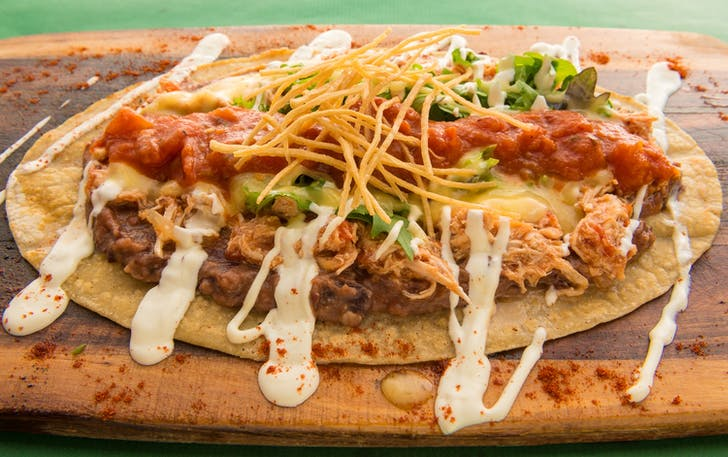 Foot-long Mexican Machete Taco from Besos Latinos
