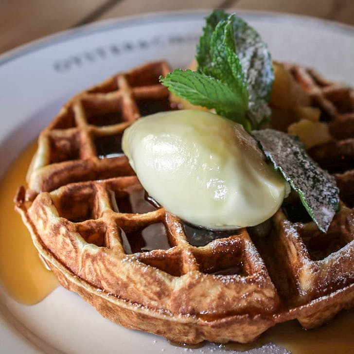 Golden Waffles from Oyster & Chop