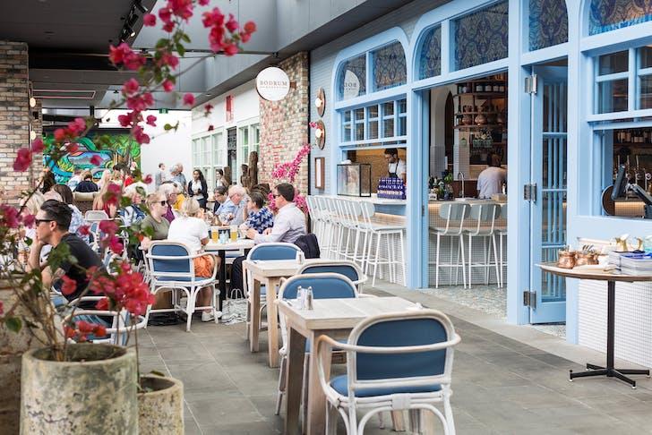 Bodrum Market's Greek-style courtyard