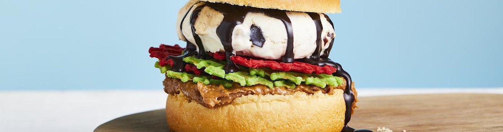 ben and jerry's ice cream brioche impossible burger