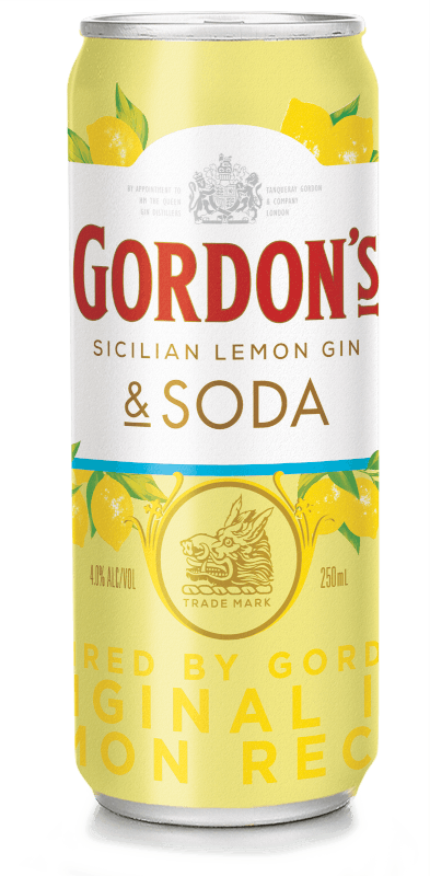 Gordon's Sicilian Lemon Gin & Soda.