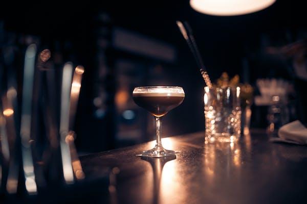 Espresso Martini on bar counter