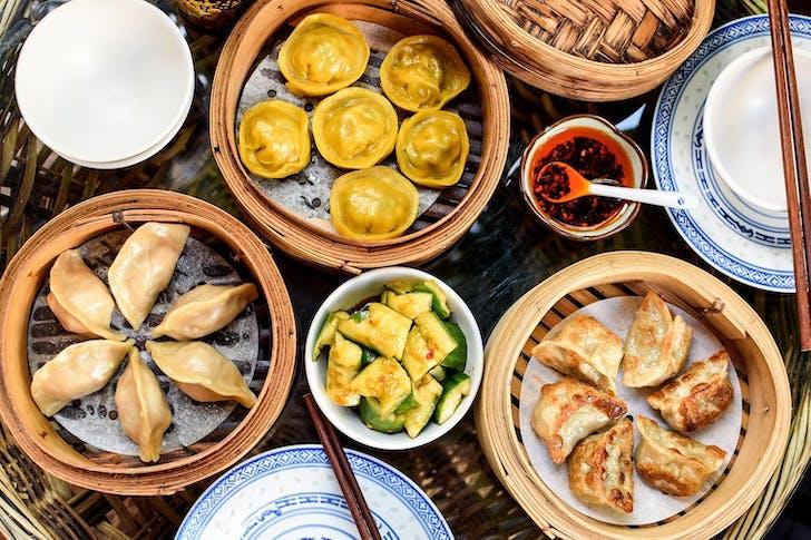 Order a dumpling spread at Xuxu