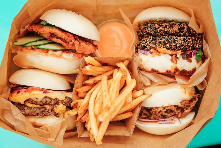 Bao Burgers and Fries from Happy Boy Eatery