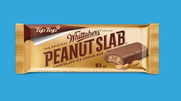 Whittaker's brand new Peanut Slab Ice Cream Bar