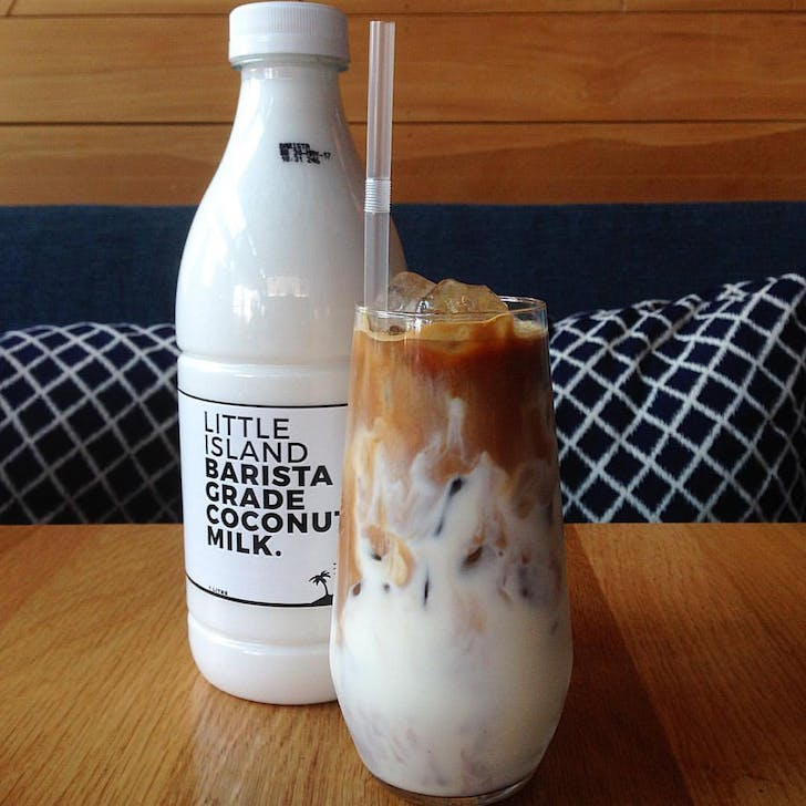 Odette's Delish Iced Coffee, available dairy free!