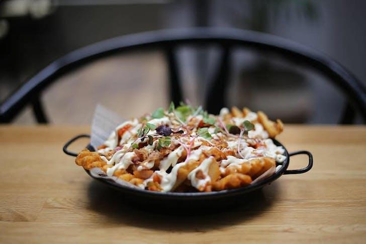Kimchi waffle fries from The Kimchi Project