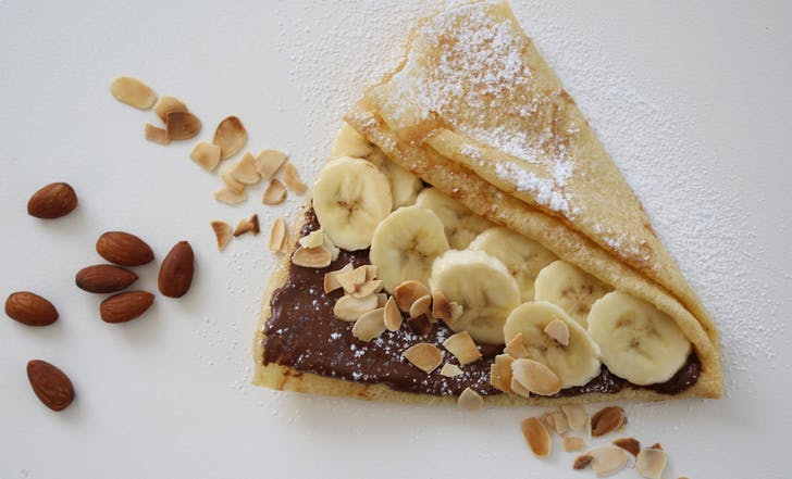 Nutella crepe from Sweet As Crepes