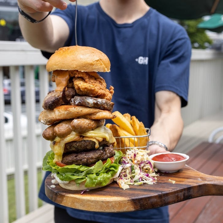 The Meatasaurus Burger (Photo Source: The Good Home Mt Eden).