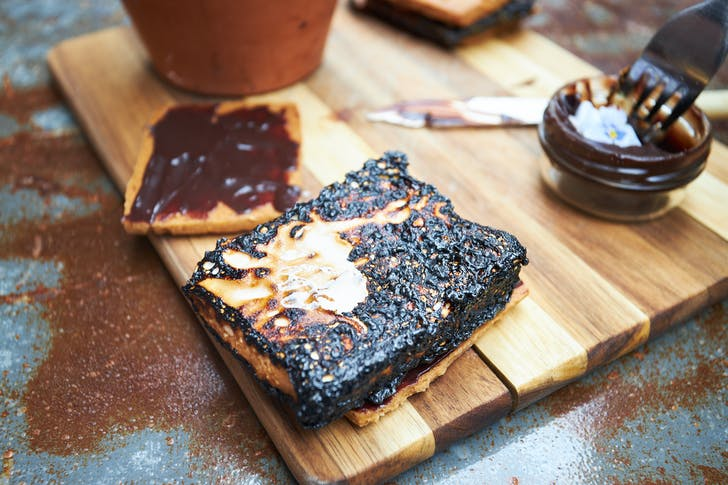 Step 2: Roast your marshmallow to the perfect degree – can you tell we like it well-done?