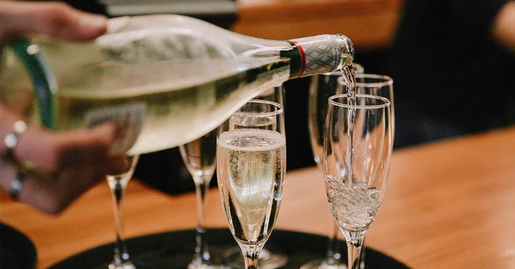 Book in for bottomless bubbles at any Goode Brothers this Valentine's.