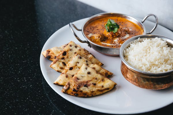 Beef curry and chocolate naan from Eight by Cordis