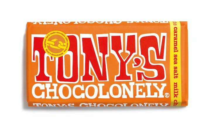 Tony's Chocolonely's Sea Salt Caramel bar
