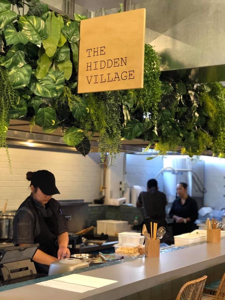 The leafy decor makes the eatery feel fresh