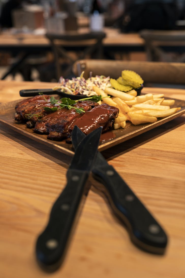 Cleaver & Co's St Louis slow cooked ribs