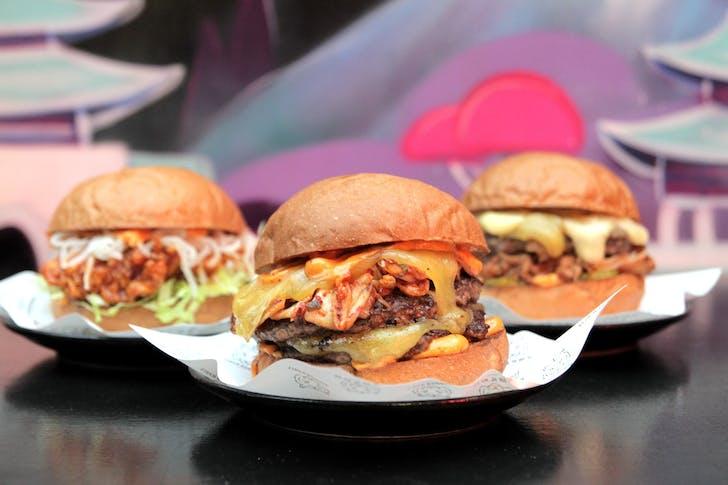 Tiger Burger's kimchi Taupo beef burger