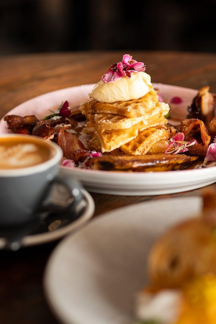 Dear Jervois' breakfast waffles