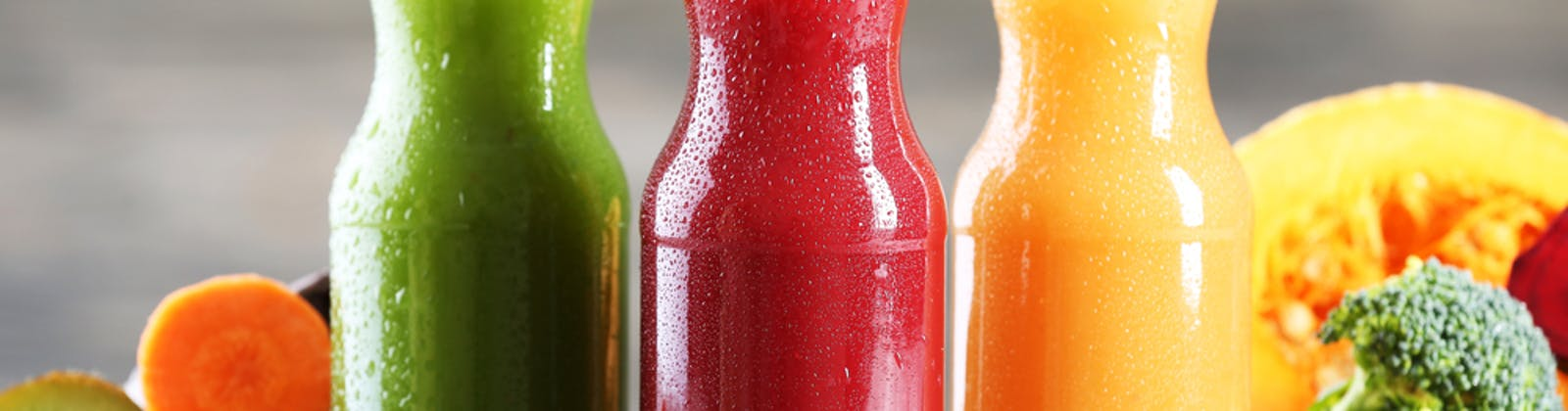 juice In glass bottles