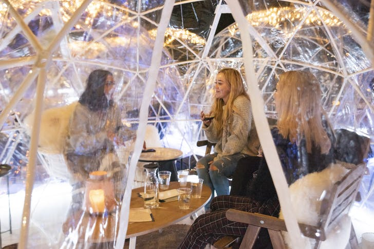 St John's Igloos are the perfect cosy date night venue.